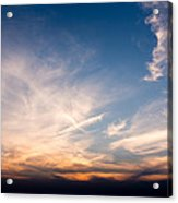 Sunset Over Maine Acrylic Print