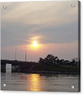 Sunset Over Meadowbrook Bridge Acrylic Print