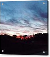Sunset Over Mecca Pike Acrylic Print