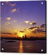 Sunset Over Miami Acrylic Print