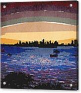 Sunset Over Miami Acrylic Print