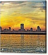 Sunset Over Milwaukee Acrylic Print