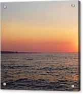 Sunset Over Montauk Acrylic Print by John Telfer
