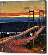 Sunset Over Narrows Bridges Acrylic Print