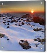 sunset over National park Sierra Nevada Acrylic Print