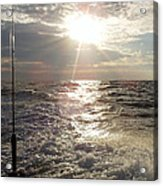 Sunset Over Nj After Fishing Acrylic Print by John Telfer