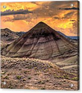 Sunset Over Painted Hills In Oregon Acrylic Print