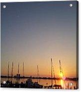 Sunset Over Pensacola Bay Acrylic Print