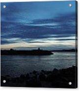 Sunset Over Quonny Rhode Island Acrylic Print