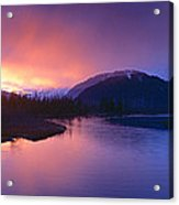 Sunset Over Resurrection River And Exit Acrylic Print