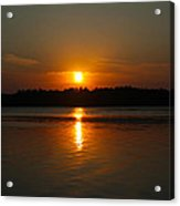 Sunset Over Rice Lake Acrylic Print by James Hammen