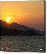 Sunset Over Samos Acrylic Print