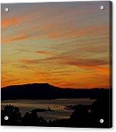 Sunset Over San Francisco Bay And Mount Tamalpais Acrylic Print