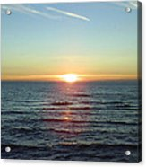 Sunset Over Sea Acrylic Print