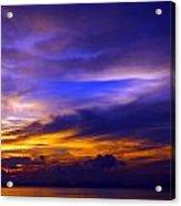 Sunset Over Sea Acrylic Print