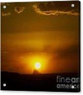 Sunset Over Shiprock Acrylic Print