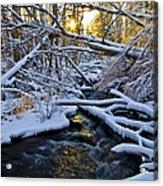 Sunset Over Snowy Mammoth Creek Acrylic Print