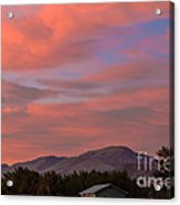Sunset Over Squaw Butte Acrylic Print