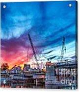Sunset Over St. Paul Acrylic Print