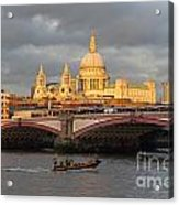 Sunset Over St Pauls Cathedral London Acrylic Print