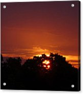 Sunset Over Sutton Surrey Acrylic Print