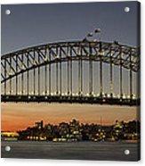 Sunset Over Sydney Harbour Bridge Acrylic Print