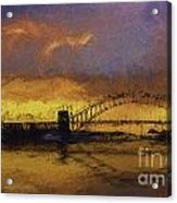 Sunset Over Sydney Harbour A Turneresque View Acrylic Print