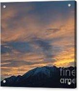 Sunset Over The Alps Acrylic Print
