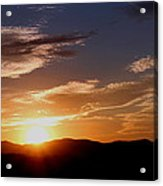 Sunset over the Blue Ridge Acrylic Print