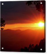 Sunset Over The Blue Ridge Mountains Acrylic Print