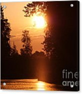 Sunset Over The Canals Acrylic Print