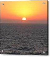 Sunset Over The Caribbean Acrylic Print
