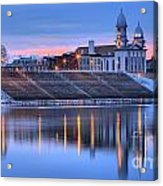 Sunset Over The Clinton County Courthouse Acrylic Print