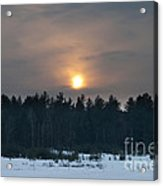 Sunset Over  The Forest Acrylic Print