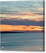 Sunset Over The Golden Gate Acrylic Print