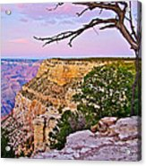 Sunset Over The Grand Canyon From South Rim Trail In Grand Canyon National Park-arizona   Acrylic Print