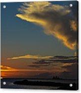 Sunset Over The Laguna Madre Acrylic Print