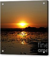 Sunset Over The Lake 3 Acrylic Print