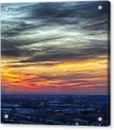 Sunset Over The Metro Acrylic Print