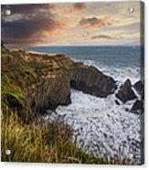 Sunset Over The Oregon Coast Acrylic Print