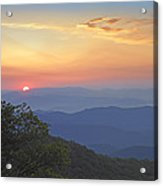 Sunset Over The Pisgah National Forest Acrylic Print