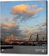 Sunset Over The River Thames London Acrylic Print