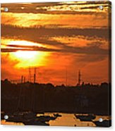 Sunset Over The Salem Willows Acrylic Print