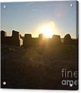 Sunset Over The Sand Castle 3 Acrylic Print