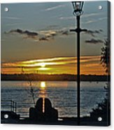 Sunset Over The Solent Acrylic Print