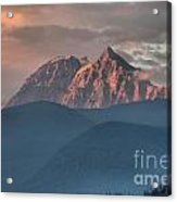 Sunset Over The Tantalus Mountains In Squamish Acrylic Print