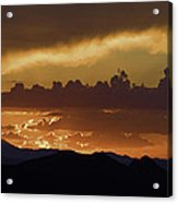 Sunset Over The Tucson Mountains Acrylic Print