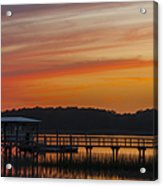 Sunset Over The Wando River Acrylic Print