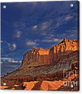 Sunset Over The Waterpocket Fold Capitol Reef National Park Acrylic Print