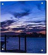 Sunset Over The Waterway Acrylic Print
